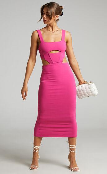 ATOIR - THE VISTA DRESS in WILD Pink