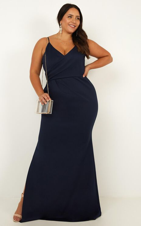 Linking Love Maxi Dress In Navy