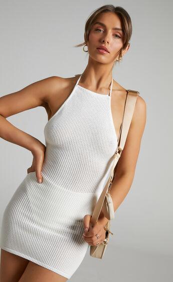 Andalucia Knit Mini Dress in Cream