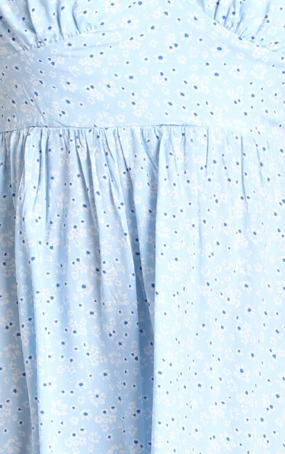 Elissa Dress in blue floral - 12 (L), Blue, hi-res image number null