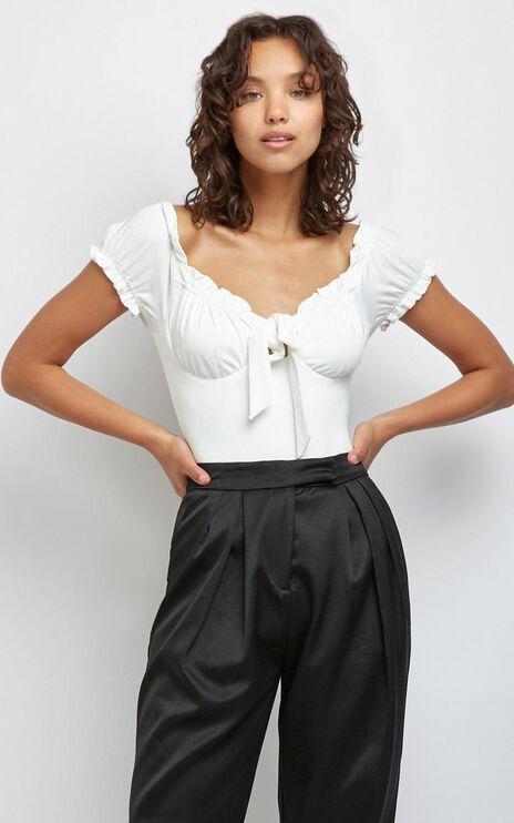 Pandora Bodysuit in White
