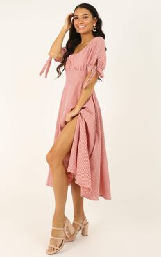 No Fuss Type Dress In Blush Stripe