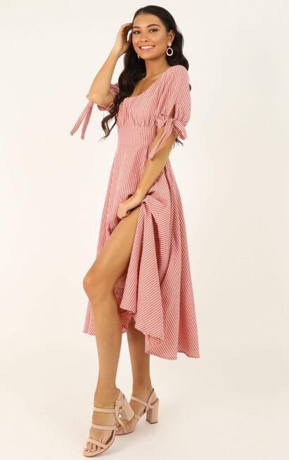 No Fuss type Dress In blush stripe - 20 (XXXXL), Blush, hi-res image number null