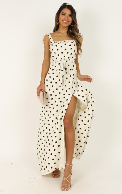 Got To Be Certain dress in white spot - 20 (XXXXL), White, hi-res image number null