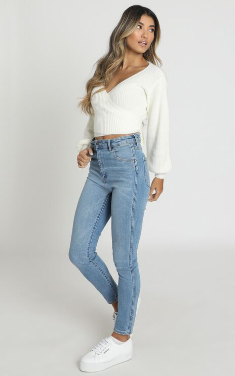 Sweetie Pie Knit Top In White