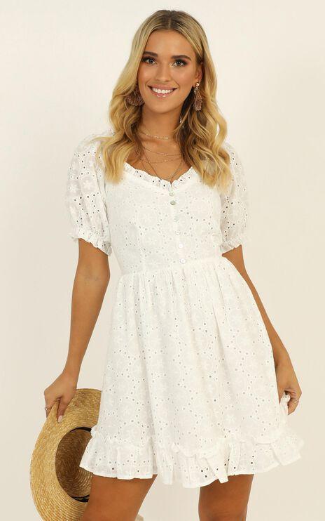 Arizona Heat Dress In White