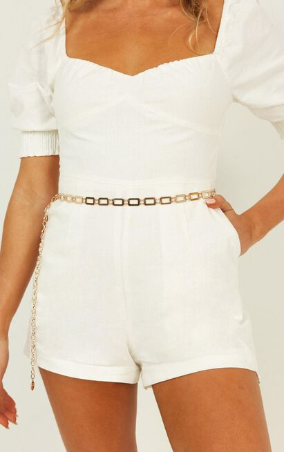 Speed Up Chain Belt In Gold, , hi-res image number null