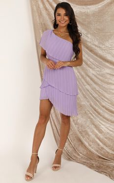 Go For It Darl Dress In Lilac Pleat