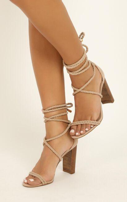 Showpo X Billini - Burano heels in nude micro - 10, Beige, hi-res image number null