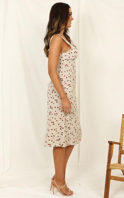 On A Pedestal dress in cream print - 12 (L), Cream, hi-res image number null