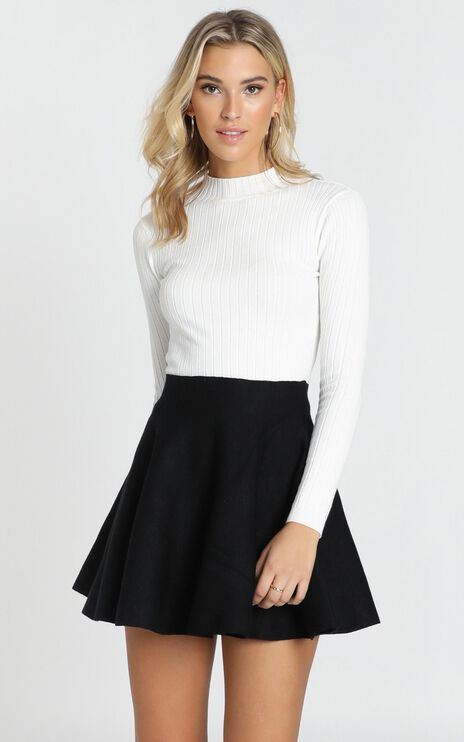 Downtown Dreams Knit Top in Cream
