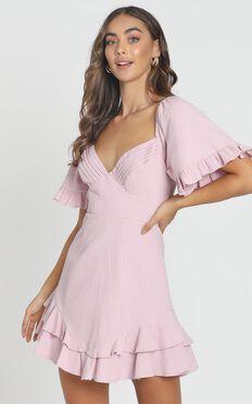 Hanna Mini Dress in Blush