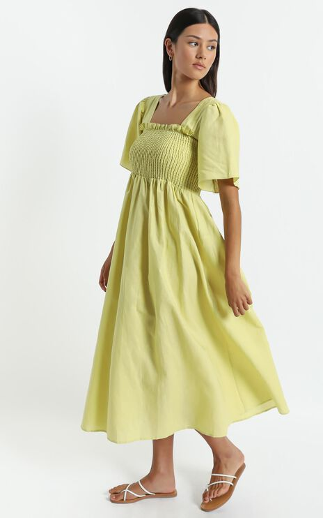 Charlie Holiday - Tuscany Dress in Chartreuse