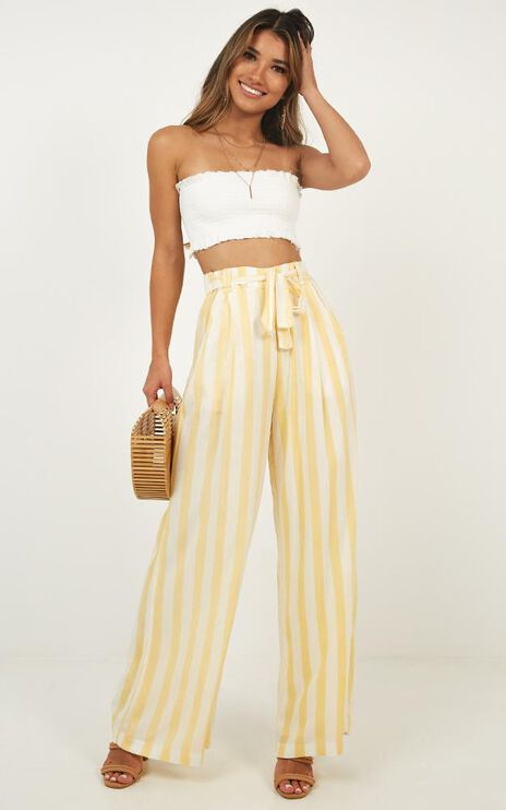 Natural Allure Pants In Yellow Stripe