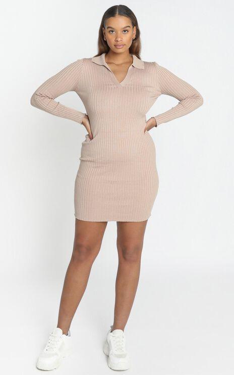 Svetlana Dress in Tan