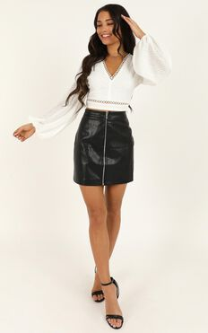 Babe Time Leatherette Skirt In Black