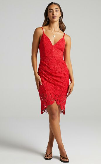 Typical Lover Dress in Red Lace