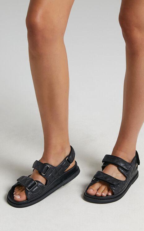 Tony Bianco - Hiranni Sandals in Black Sheep Nappa