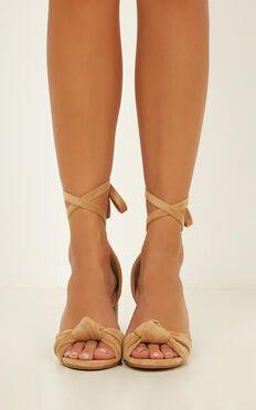 Billini - Campania Heels In Camel Micro