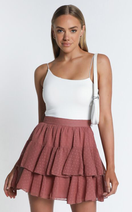 High Stakes Skirt In Dusty Rose