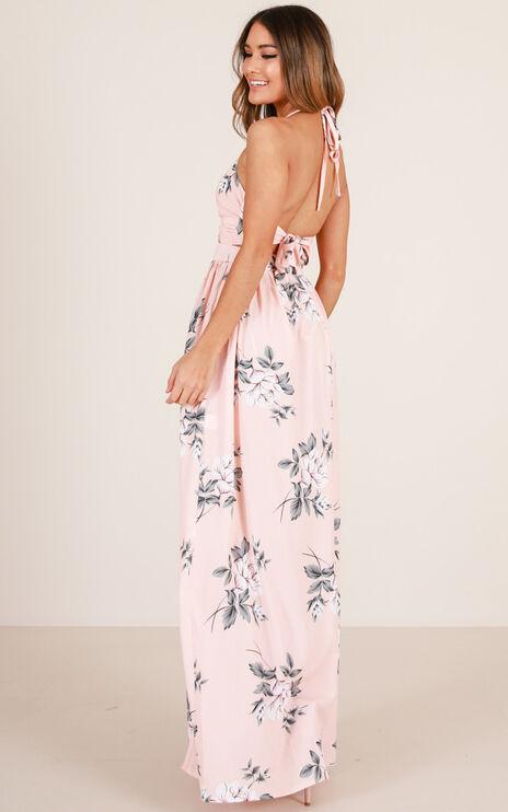 Imagine This Maxi Dress In Peach Floral