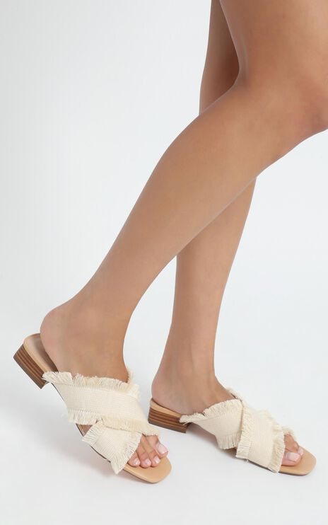 Therapy - Lula Sandals in Natural Fabric