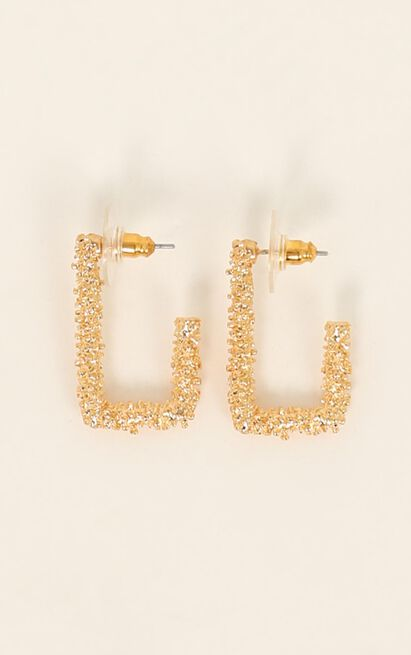 Count On Me Earrings In Gold, , hi-res image number null