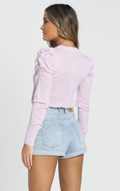 Snuggle Up knit Top In lilac - 18 (XXXL), Purple, hi-res image number null