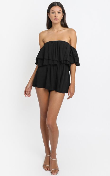 Be My Guest Playsuit in Black