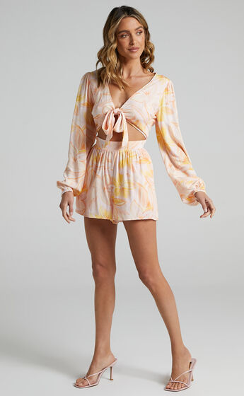 Ipswich Playsuit in Summer Floral