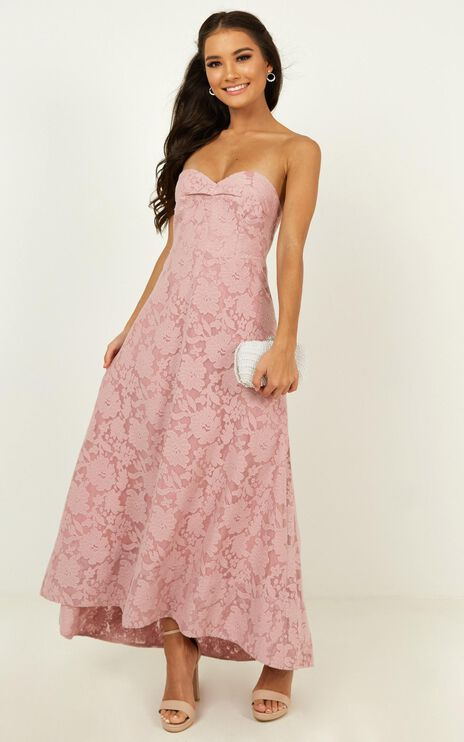 Show Me The Light Dress In Blush