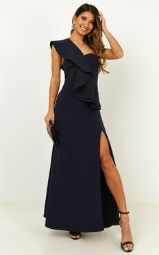 Low Key Goddess Dress In Navy