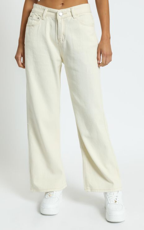 Casandra Jeans in Off White