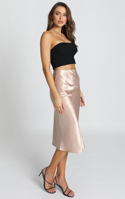 Creating art skirt in champagne satin - 20 (XXXXL), Brown, hi-res image number null