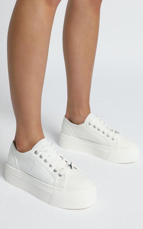 Windsor Smith - Ruby Sneakers in White Canvas
