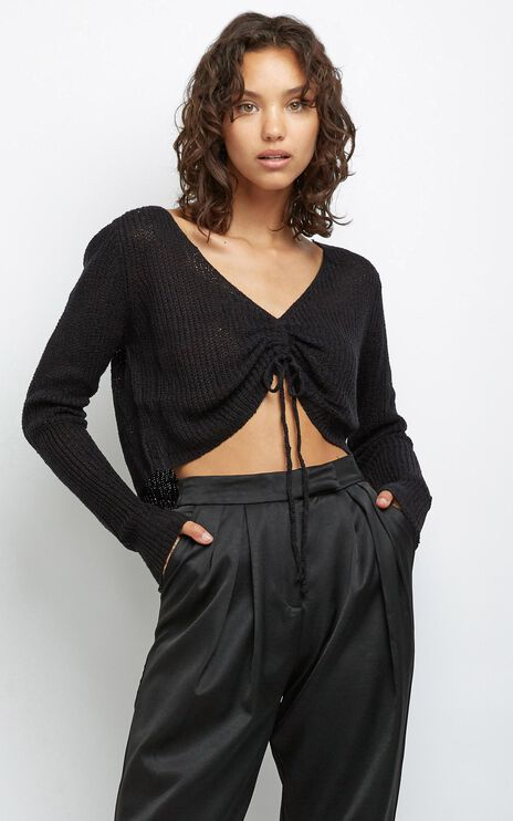 Anamarie Knit Top in Black