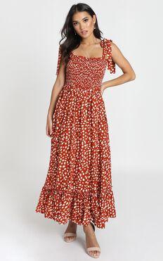 Miranda Dress In Red Print
