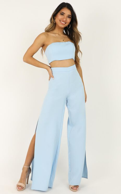 Im The One Two Piece Set In Powder Blue
