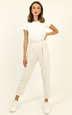 Career Goals Pants In Cream