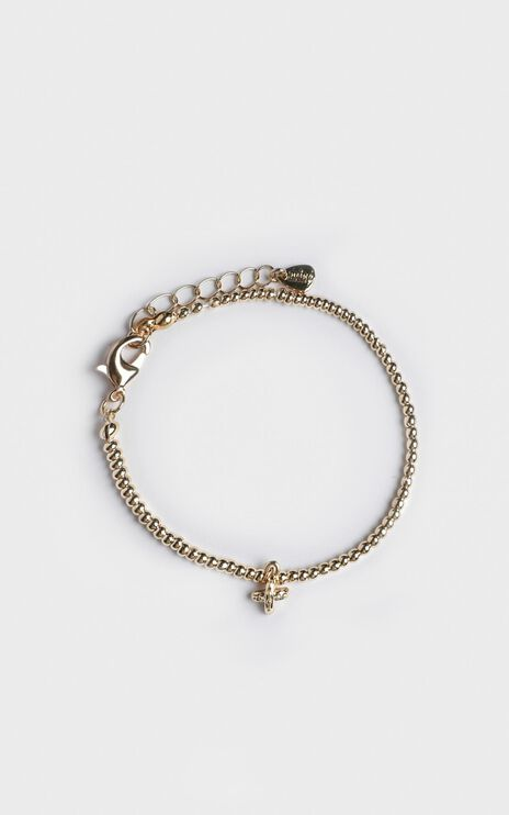 Minc Collections - Tropic Beaded Bracelet In Gold