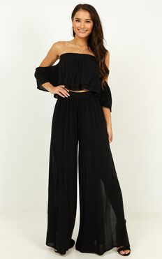 Daring Day Two Piece Set In Black