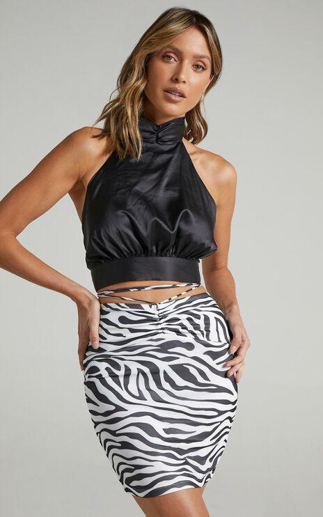 Lelo Skirt in Black Zebra Print