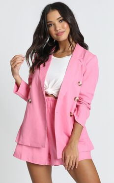 Raspberry Dust Blazer In Hot Pink