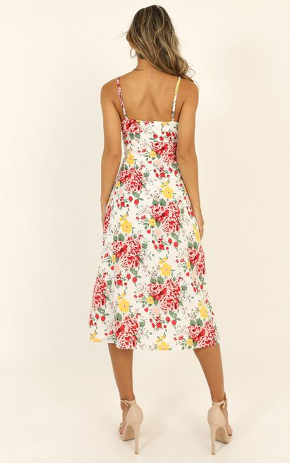 Spice Market Dress in white floral - 20 (XXXXL), White, hi-res image number null