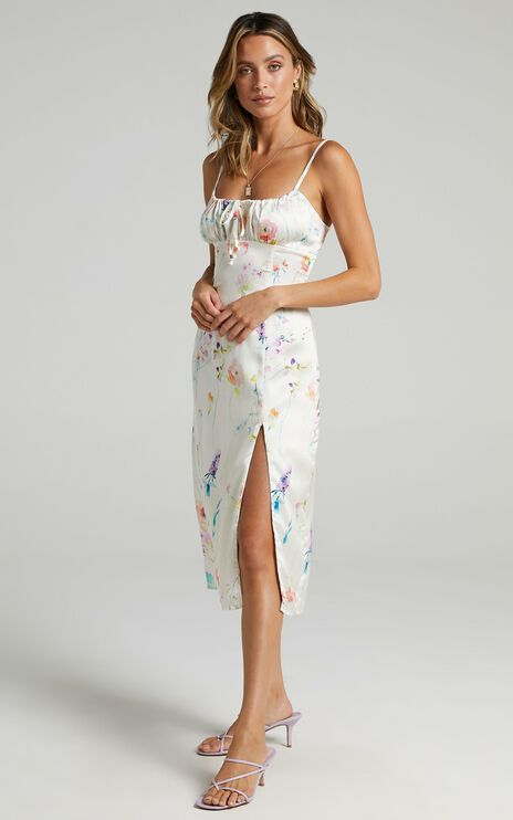 Not your Gal Midi Dress in Watercolour Floral