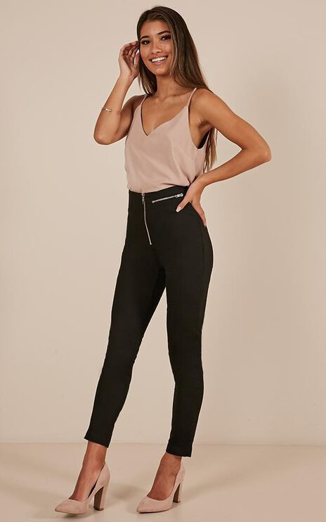 Girl Around Town Pants In Black