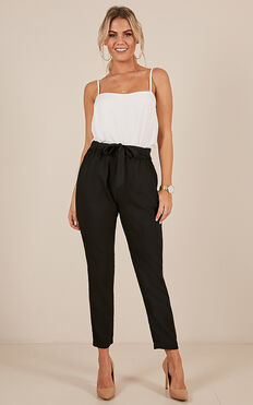 One The Edge Pants In Black