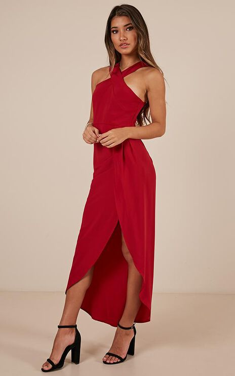 Wished For A Sign Dress In Red