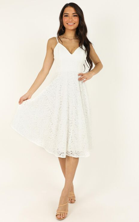Far Beyond Dress In White Lace