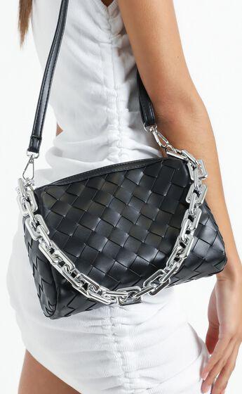 Deidra Bag in Black Braided PU